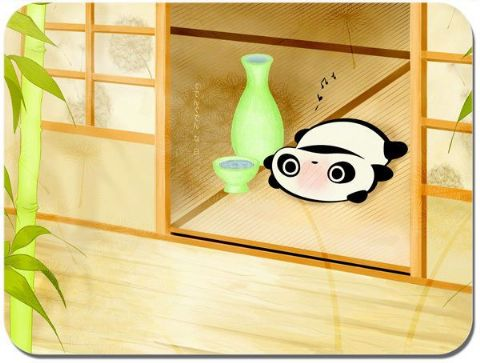 Tare Panda Happy Sake Mouse Mat Japanese Animation Kawaii Mouse pad